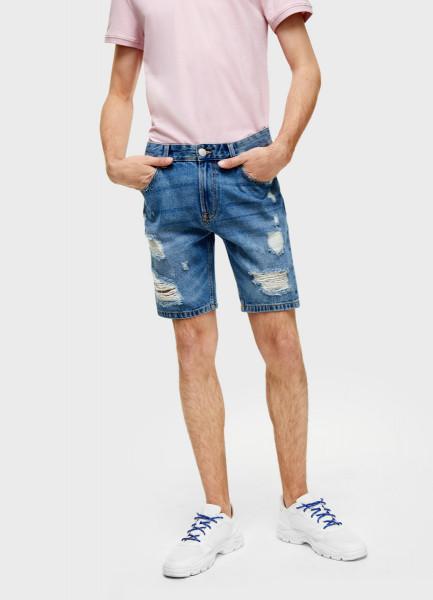 Джинсовые шорты с разрывами фото