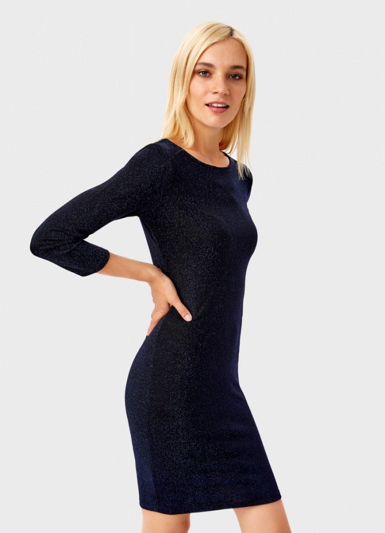 Платье-труба с люрексом