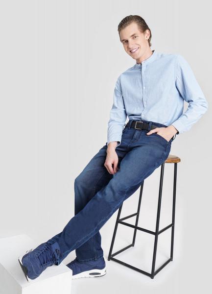Прямые джинсы из ткани с начёсом