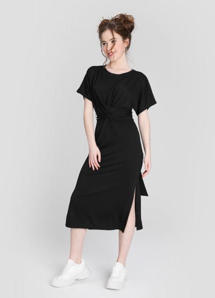 Платье миди с узлом фото