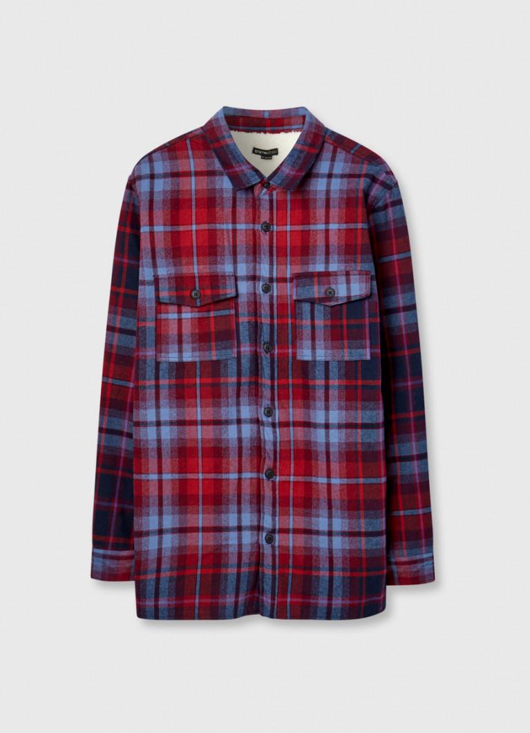 Рубашка-куртка на флисовой подкладке
