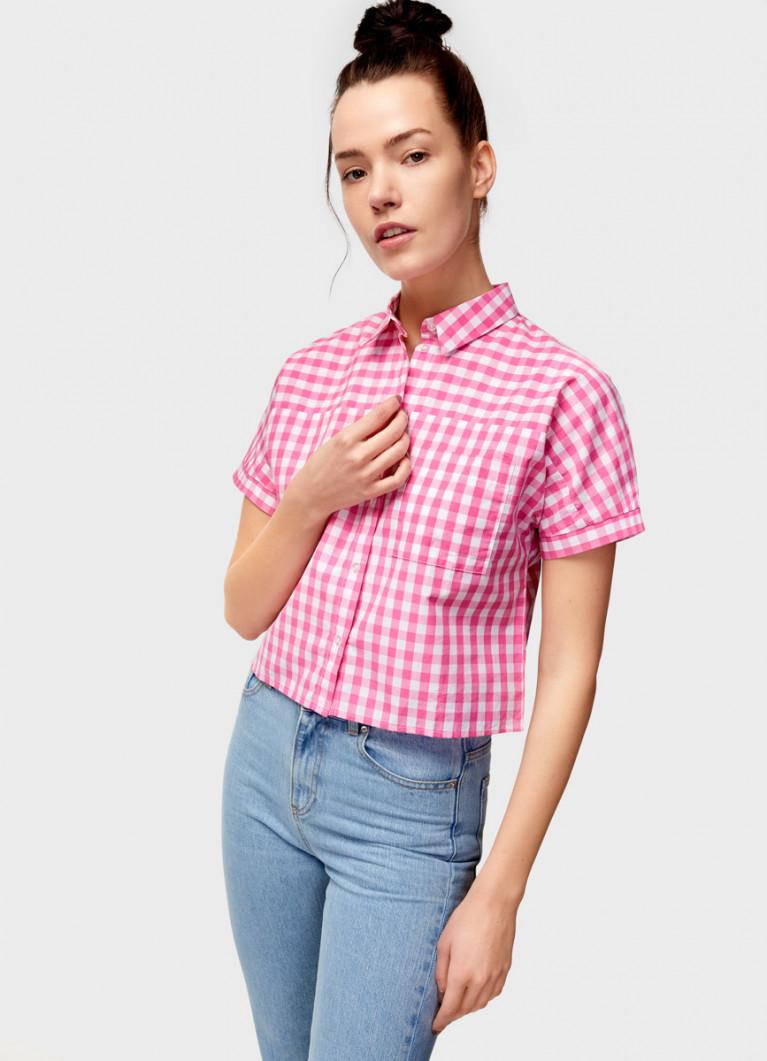 Укороченная рубашка из хлопка