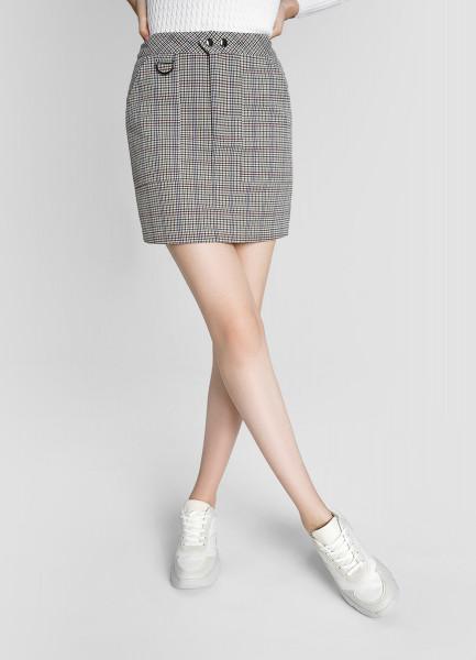 Поливискозная юбка А-силуэта
