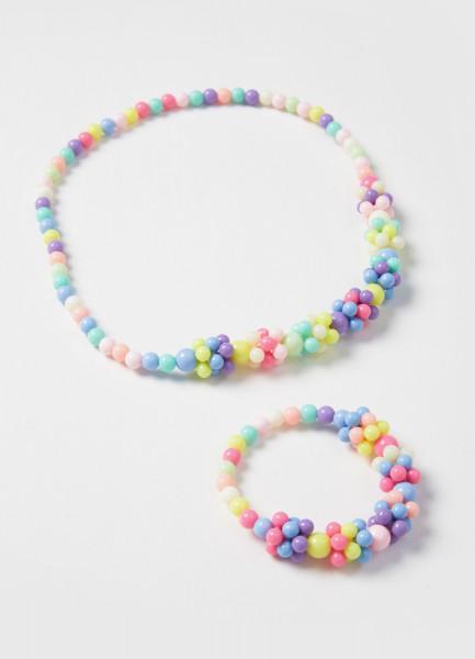 Набор из ожерелья и браслета для девочек