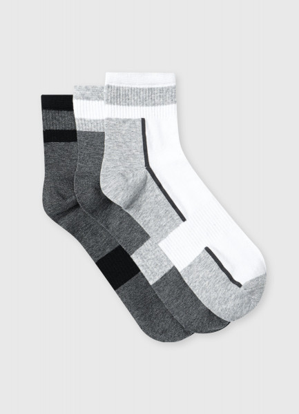 Короткие носки с колорблоками
