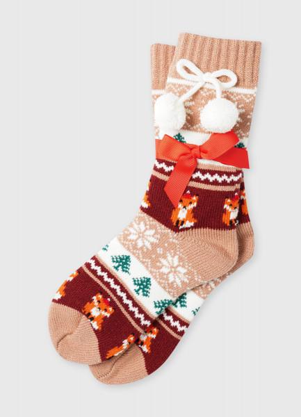 Фото - Акриловые носки с жаккардом «лисы» носки с жаккардом авокадо