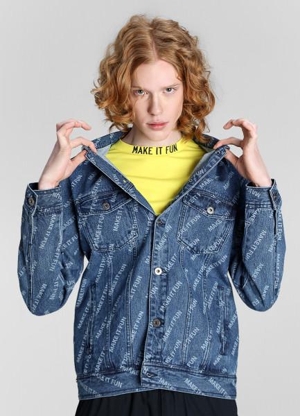 Джинсовая куртка с принтом Make it Fun фото