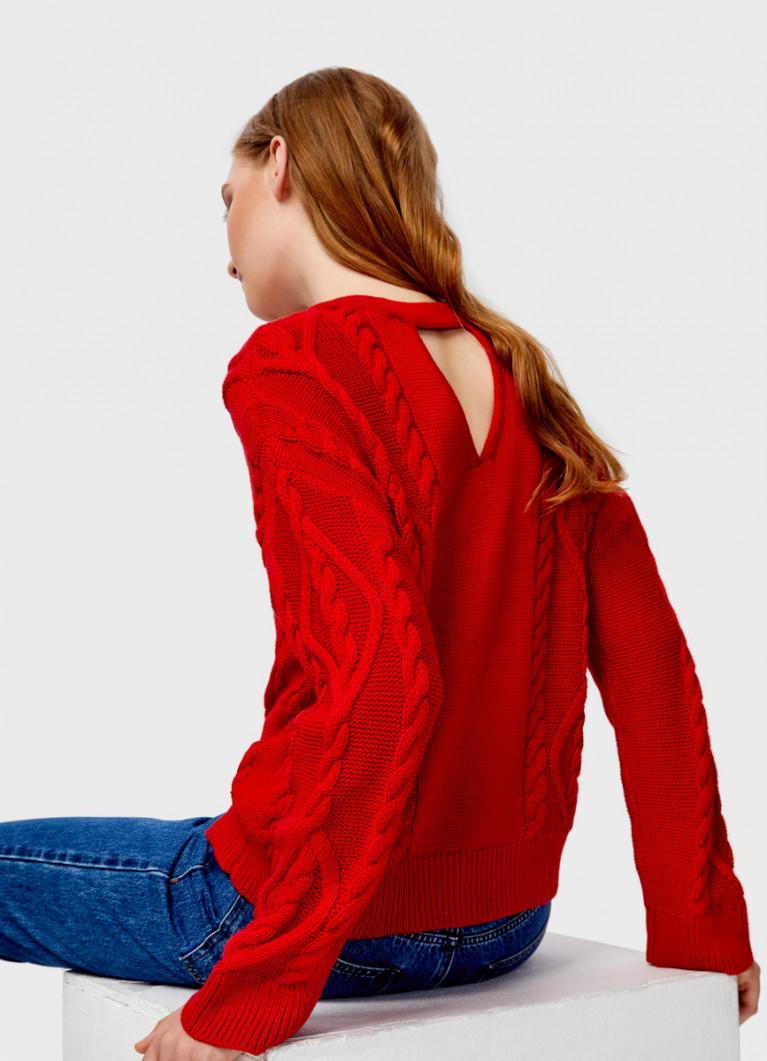 Джемпер с косами на спине
