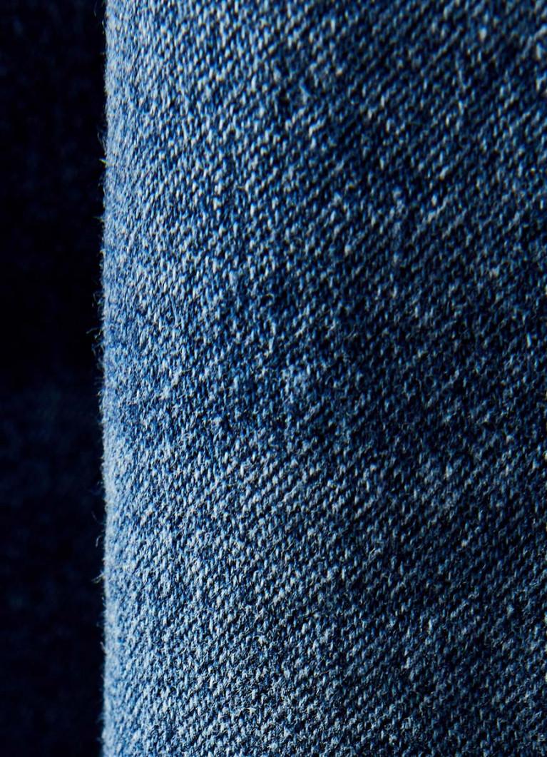 Тёмно-синие джоггеры из денима