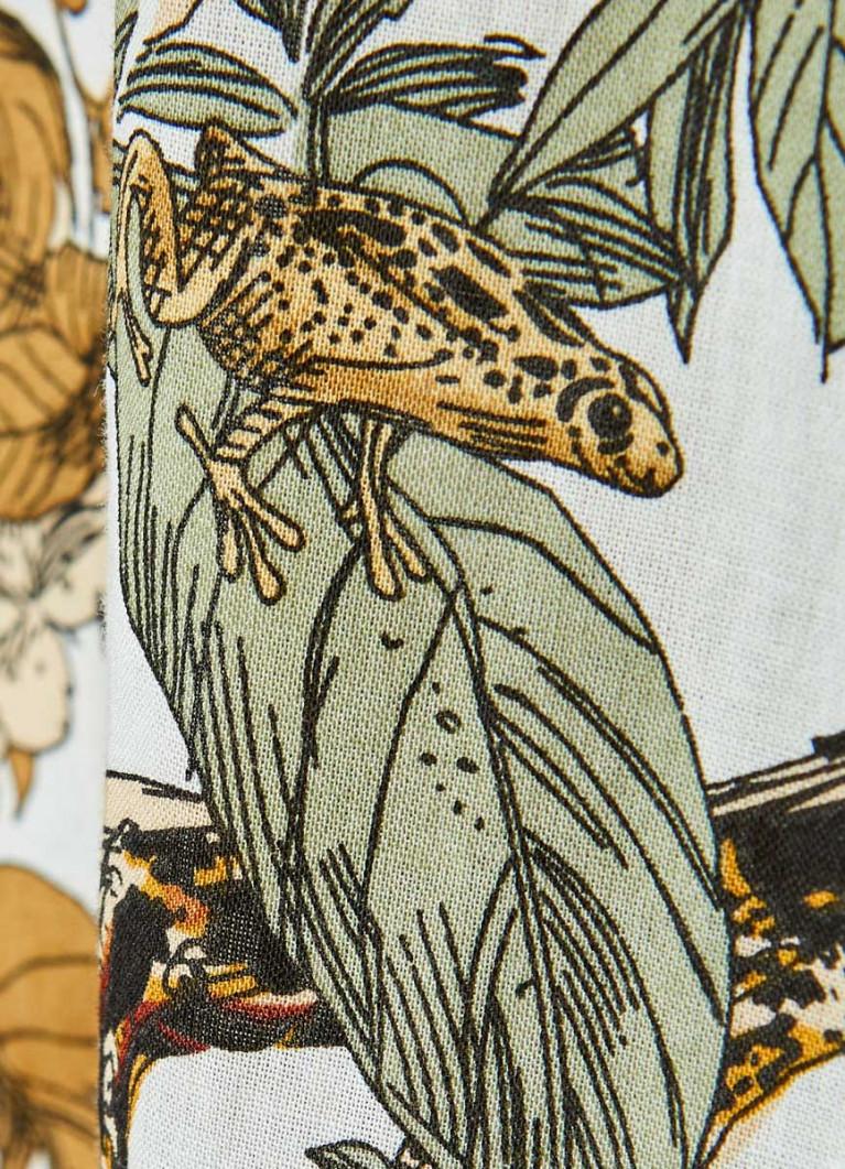 Рубашка с тропическим принтом