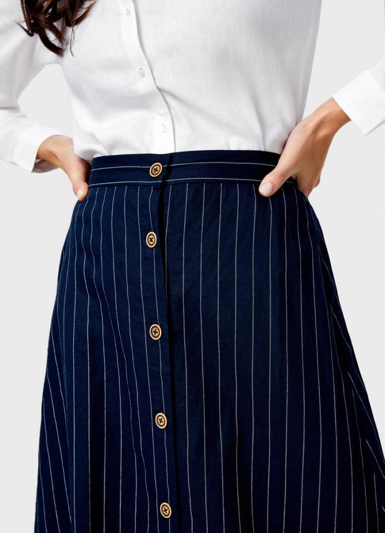 Пышная юбка на пуговицах