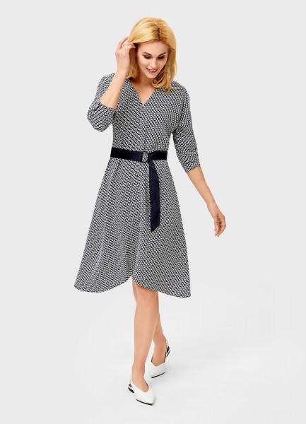 Платье с принтом «подковы»