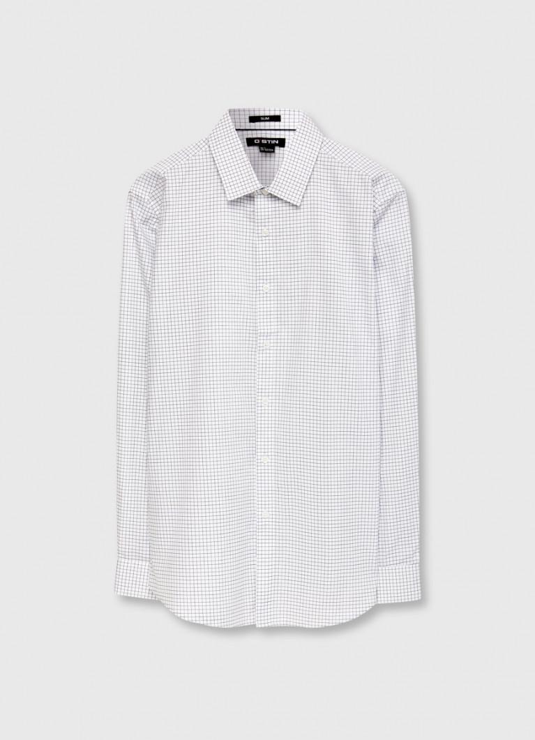 Рубашка в графичную клетку