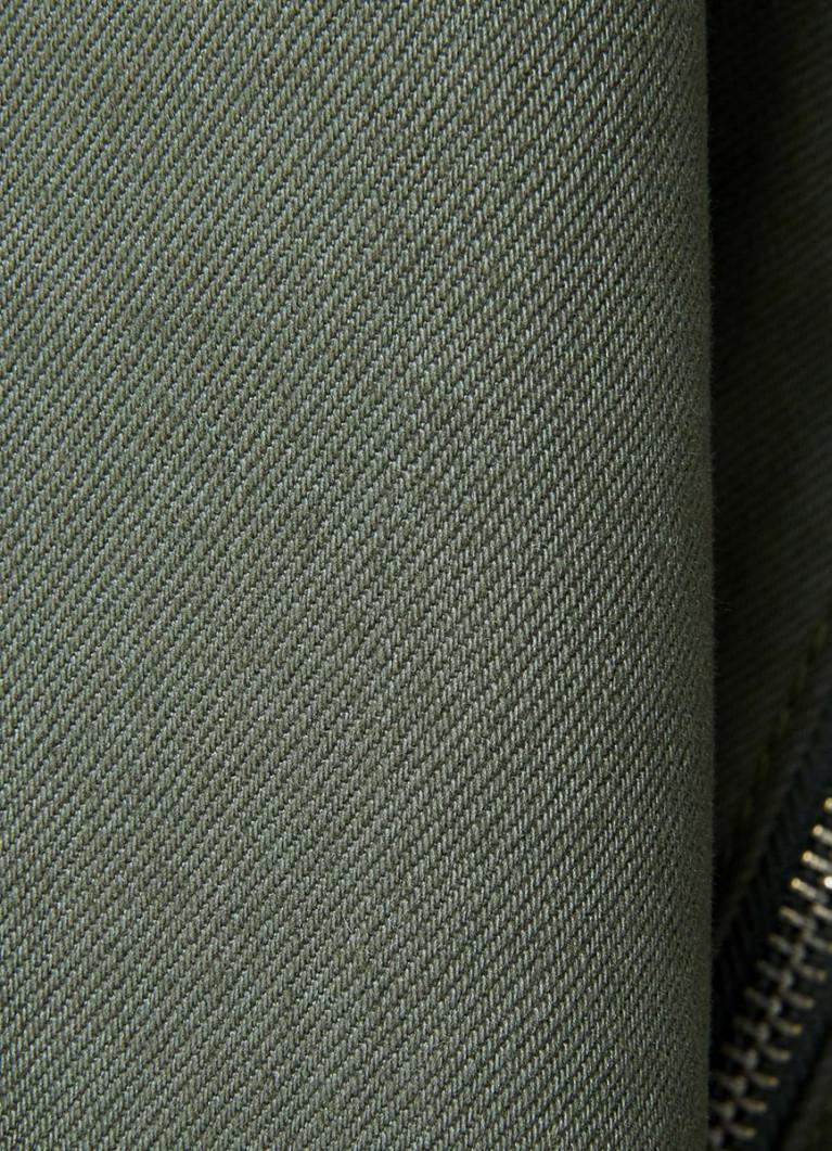 Юбка А-силуэта с молнией спереди