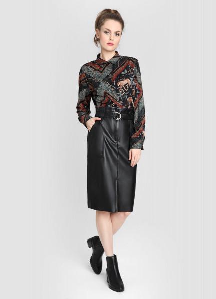 Блузка с принтом «цепи» фото
