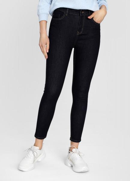 Зауженные джинсы в тёмной варке фото
