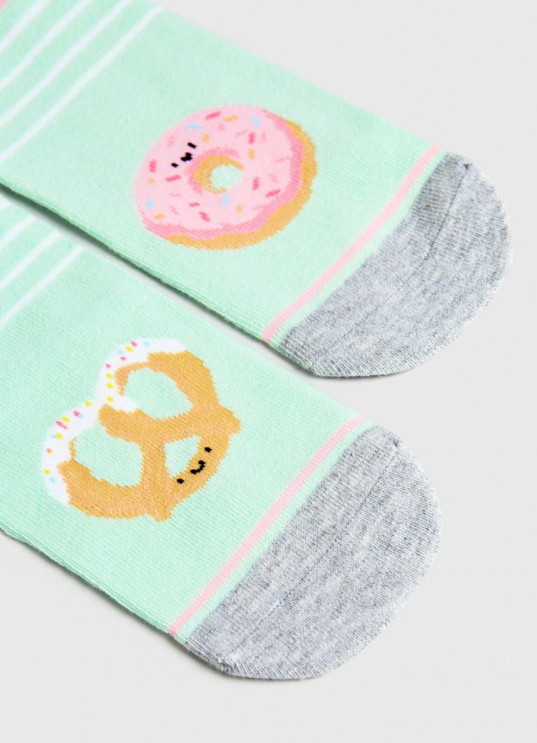 Короткие носки с жаккардом