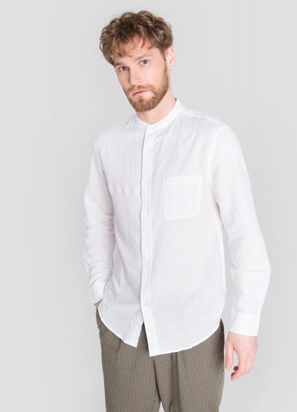 Рубашка с воротником-стойкой фото