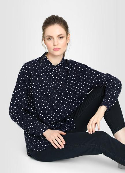 Блузка из принтованной вискозы фото
