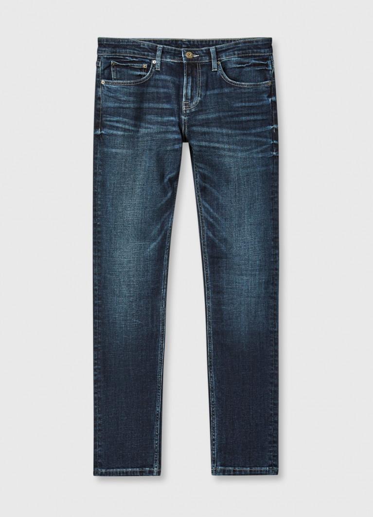 Зауженные джинсы с аутентичной стиркой