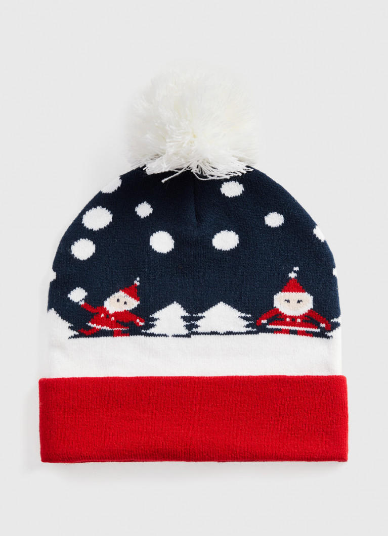 Новогодняя шапка с жаккардом
