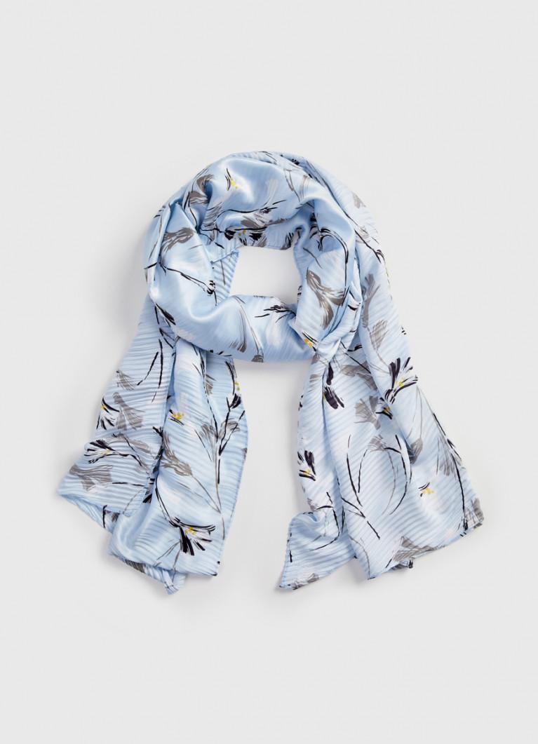 Плиссированный шарф с принтом