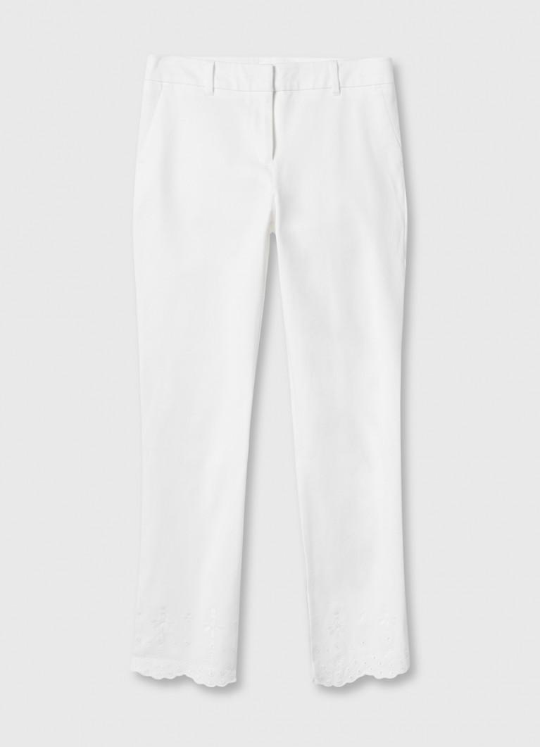 Узкие брюки с вышивкой