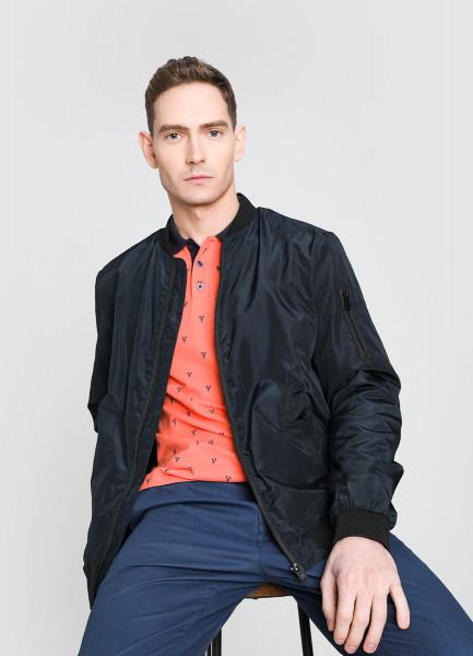 Куртка-бомбер с воротником-гольф