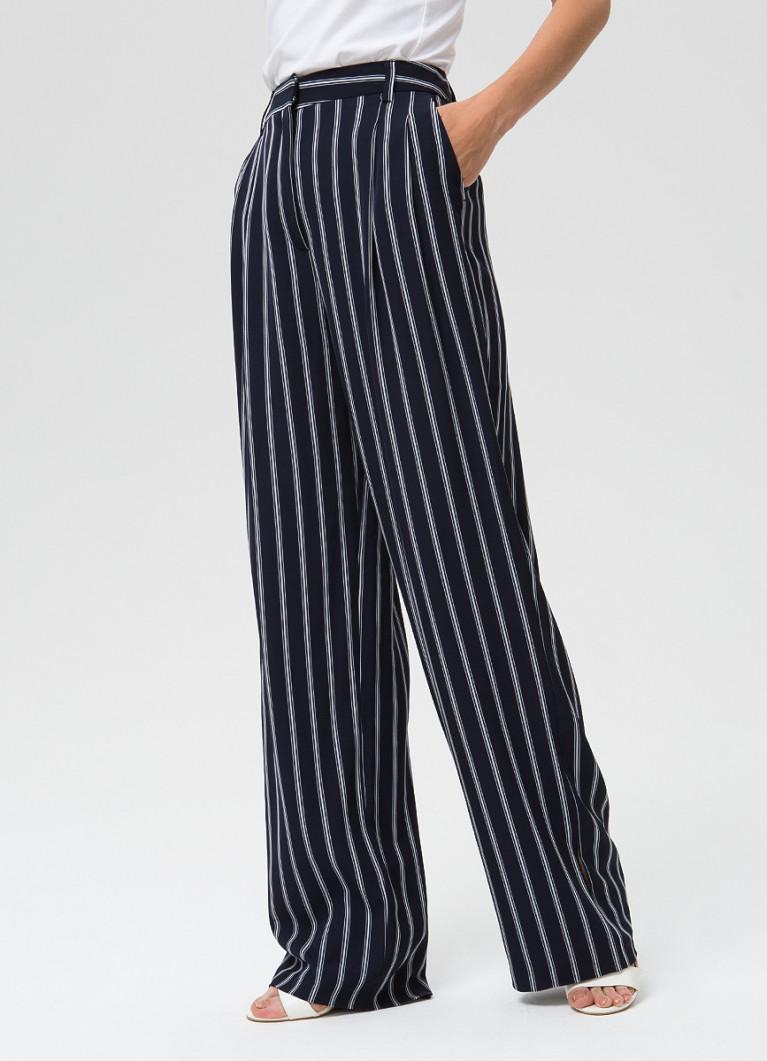 Широкие брюки в полоску