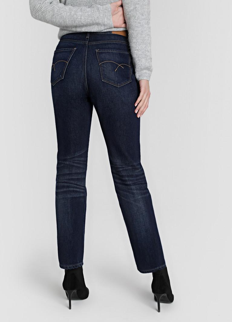 Прямые джинсы премиум с высокой посадкой