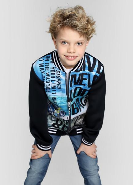 Трикотажная куртка для мальчиков фото
