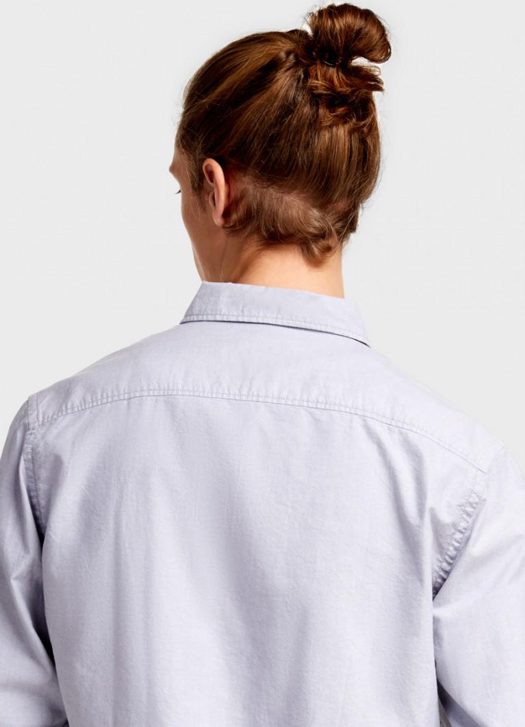 Однотонная рубашка из хлопка