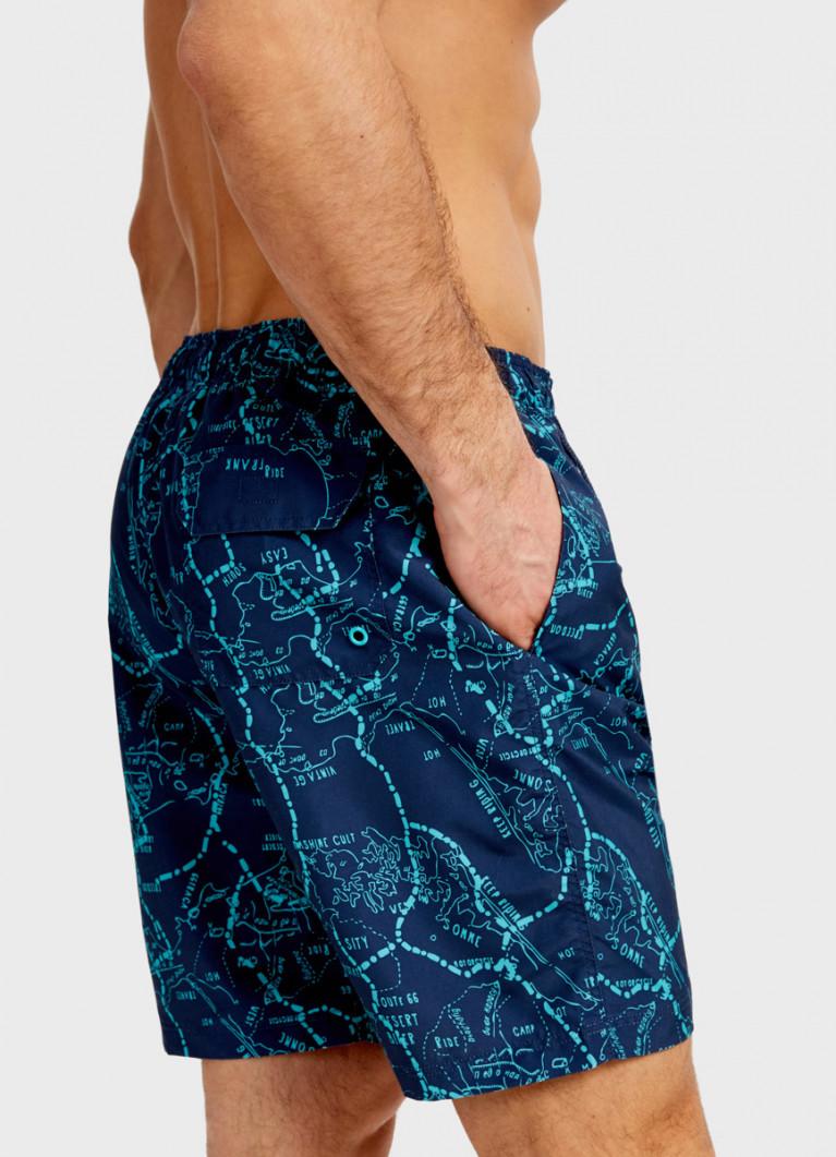 Удлинённые шорты с принтом