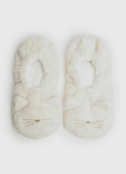 Мягкие тапочки с мордочкой кошки