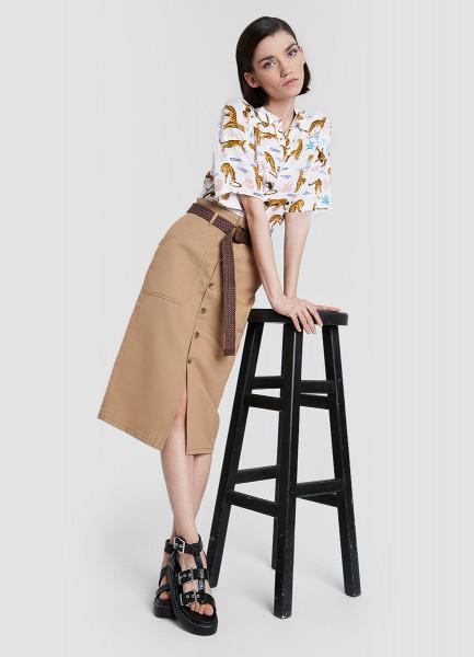 Рубашка из вискозы с узелком