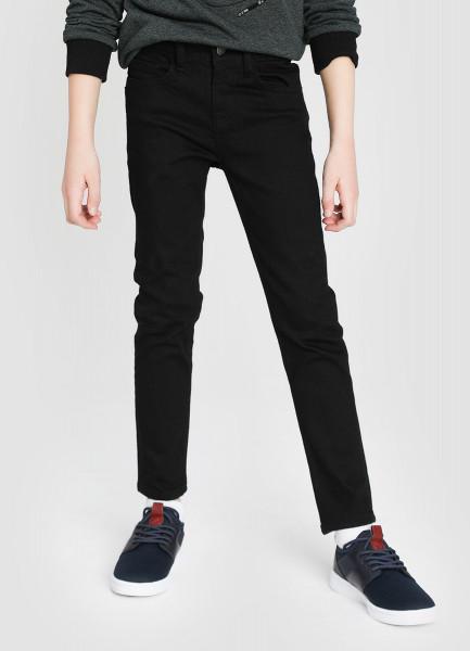 Чёрные базовые джинсы для мальчиков фото