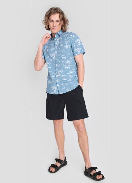 Рубашка из хлопка с принтом