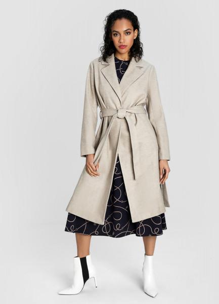 Пальто с поясом фото