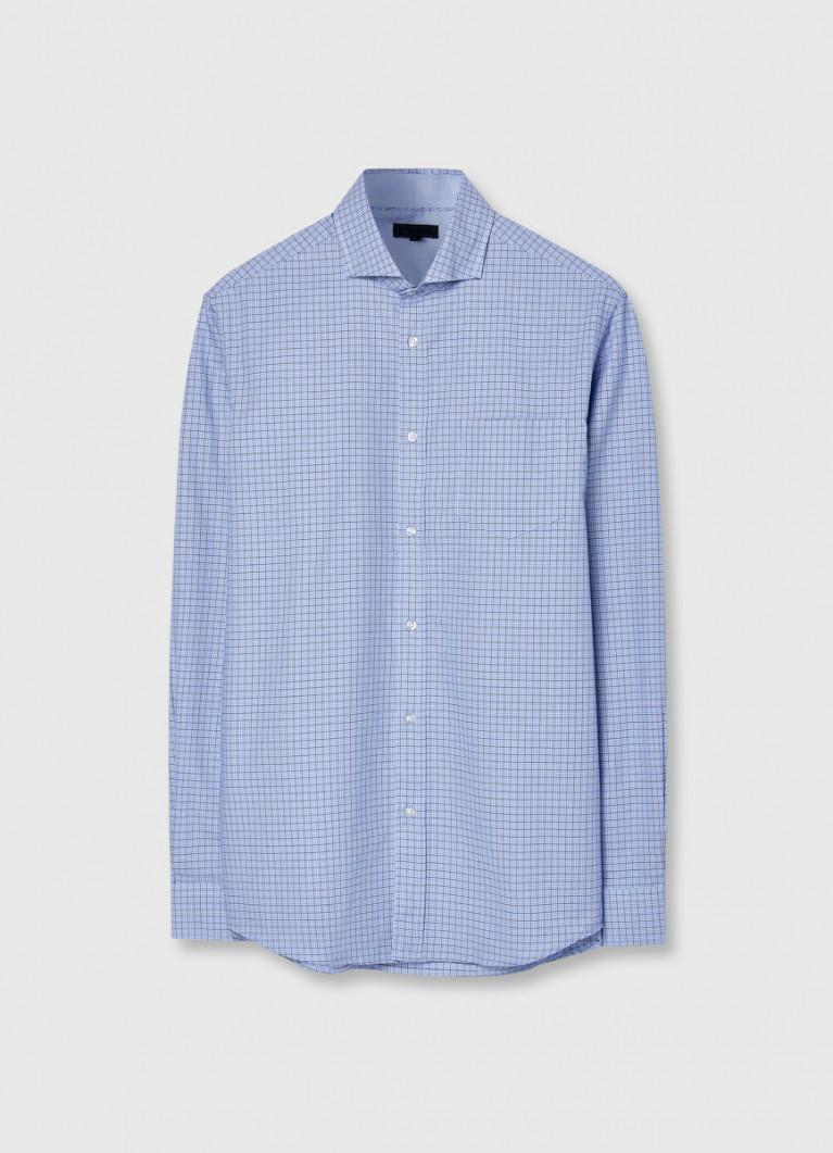 Рубашка в сложную клетку