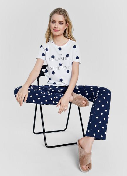 Пижама из принтованного хлопка