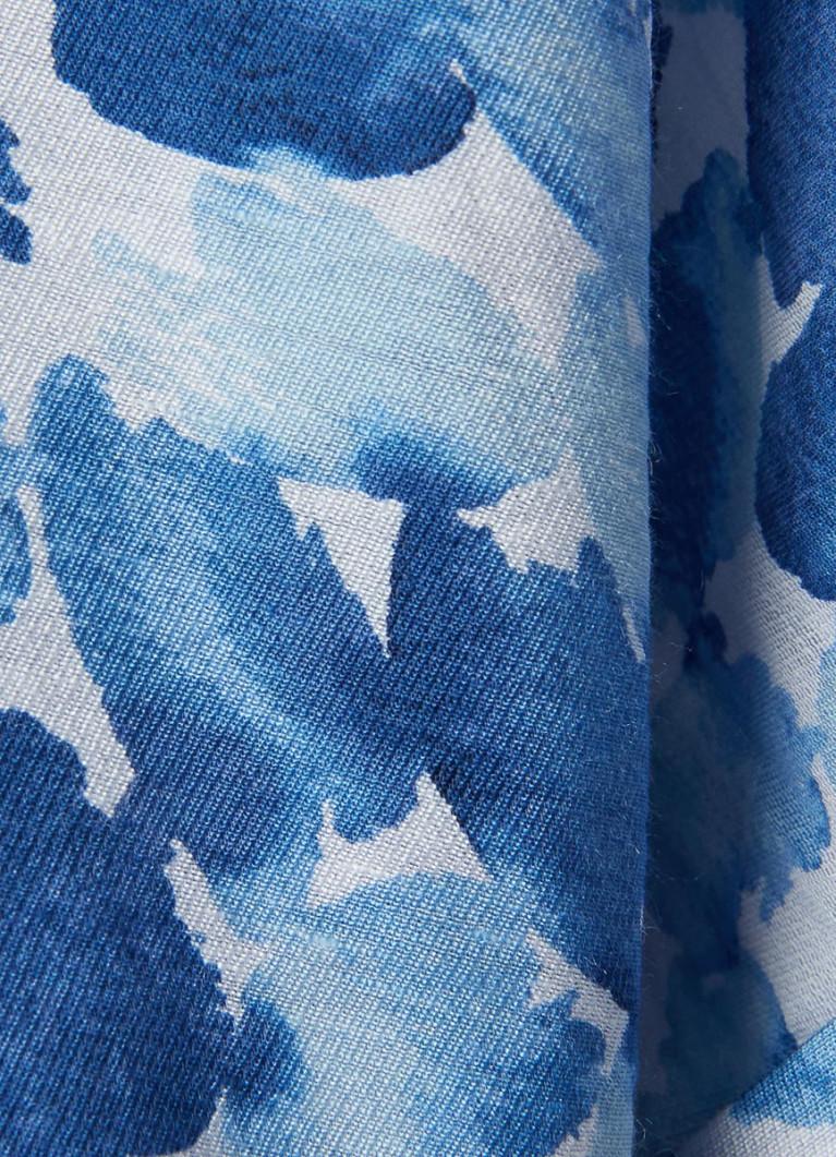 Принтованная блузка из смесового вискозного полотна