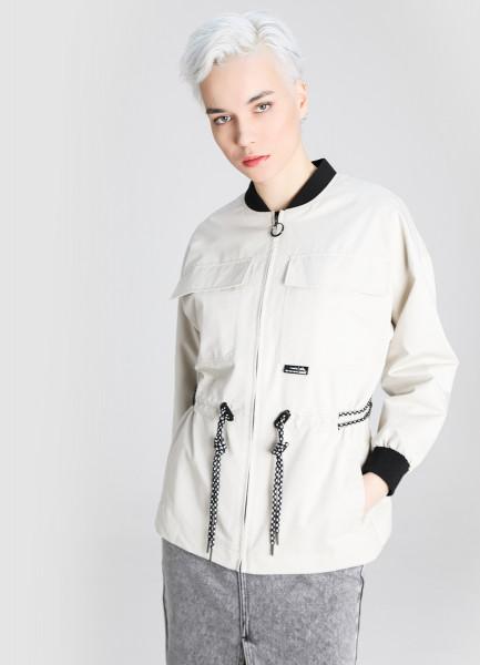 Удлинённая куртка с накладными карманами фото