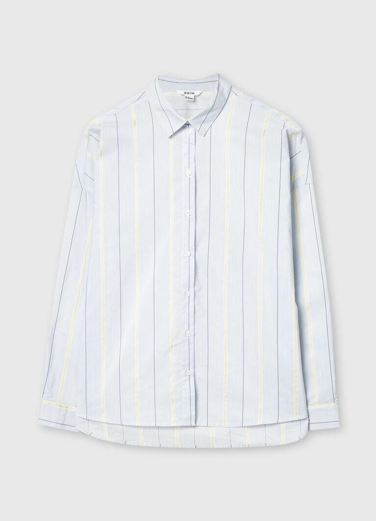 Рубашка в разноцветную полоску