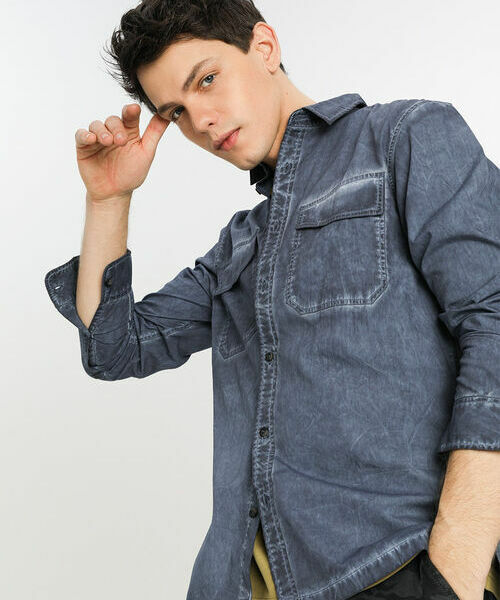 Рубашка со стиркой Garment Dye