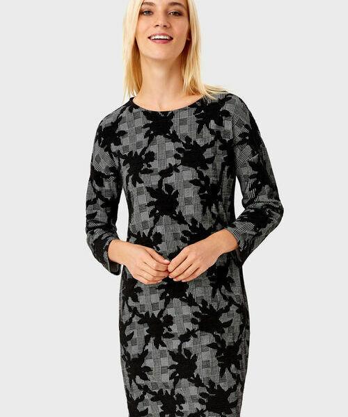 Фото - Платье из цветочного жаккарда фото