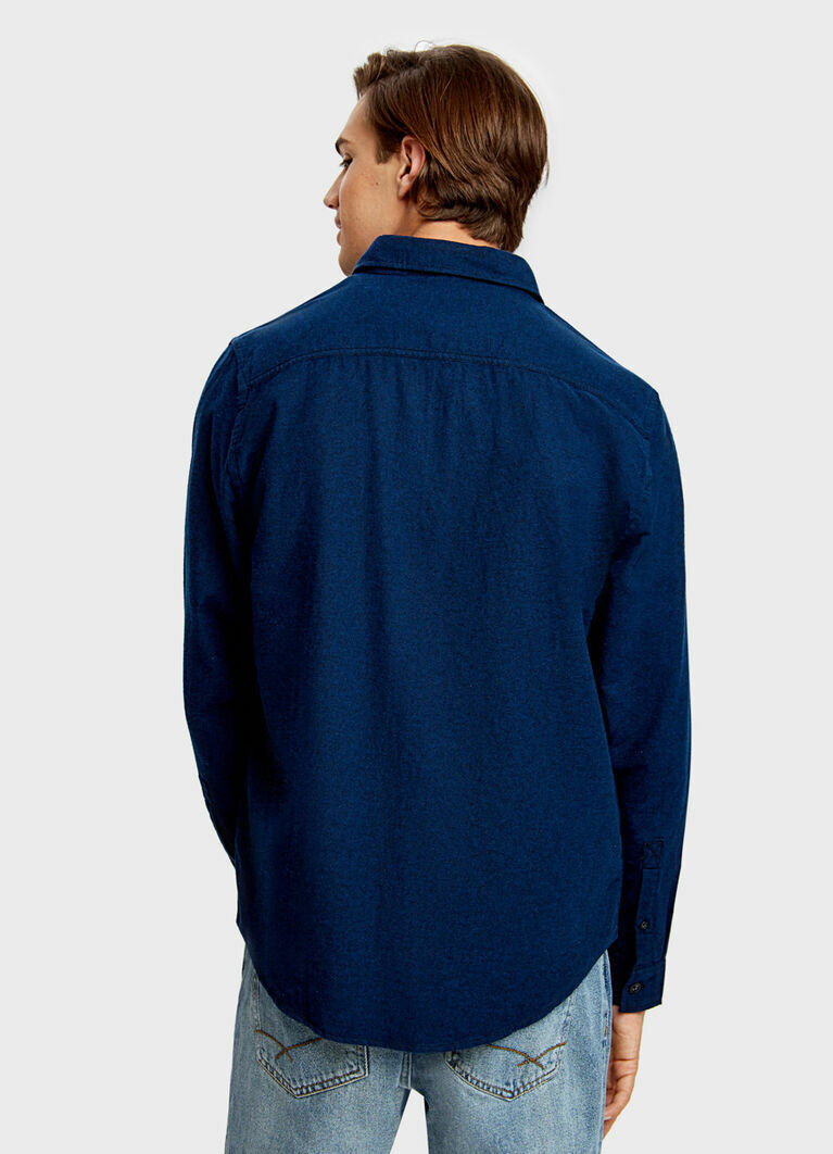 Рубашка из двухцветного твила