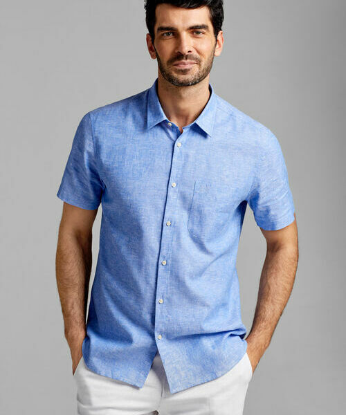 Фото - Рубашка из льняной ткани рубашка greg greg mp002xm05sgb