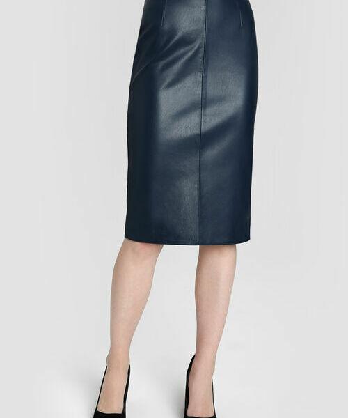 Юбка-карандаш из искусственной кожи юбка расклешенная из искусственной кожи