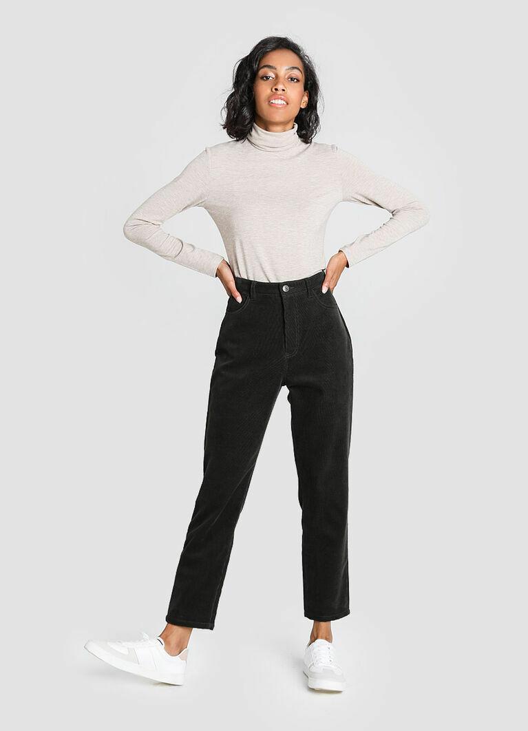 Утеплённые брюки из вельвета