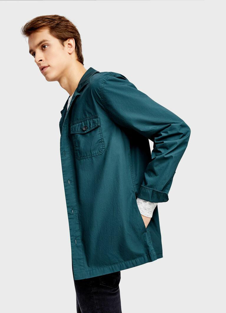Рубашка с принтом на спине